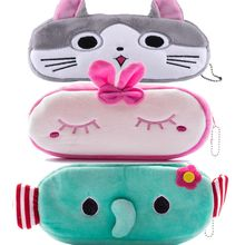 Lovely cats Cartoon Animal Pencil Pen Case Soft Plush Makeup Cosmetic Pouch Bag Zipper(China)