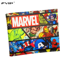 FVIP Wallet Marvel Comics Heroes Thor Hulk Deadpool Thing X-Man Gears of War Short Wallets With Card Holder Purse Drop Shipping