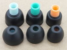 3 Colors 3 Pairs (S/M/L) Silicone Eartips In-ear Silicone Eartips For HiFi In-ear Earphones(China)