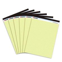 French yellow grid writing pad A4 Memo Pad 6PCS*50 sheets Belt tearing line Legal pad paper Office Supplies Notepad memo pads(China)