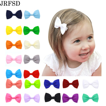 JRFSD 20PCS/Lot Hair Clip Mini Bow Hair Bands Accessories knot Hairpins Hair Bow Headband kids Hair Accessories HDJ-2(China)