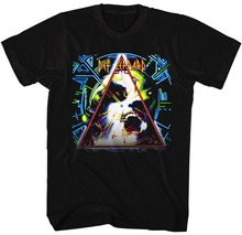 2017 Time-limited Fashion Broadcloth Cotton Print No Tee4u T Shirt With Short Top O-neck Def Leppard Hysteria For Men(China)