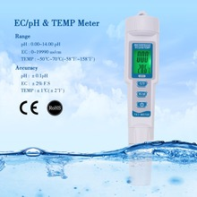 Professional 3 in 1 Multi-parameter PH Monitor Water Quality Tester Pen Type pH EC TEMP Acidometer Drink Water Quality Analyser(China)