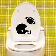 American Football Home Decoration Accessories Wall Sticker Toilet Decal Vinyl 6WS0155