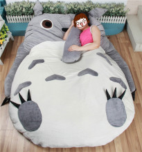 Large Size Cartoon Big Totoro Bed Cushion Tatami Memory Foam Mattress Pad Cover Stuffed Plush Gift Totoro Double Bed colchones(China)