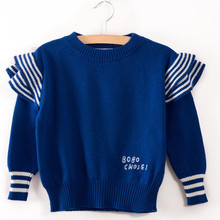 2017 Bobo Choses Autumn Winter Sweater Solid Color Cotton Pullover Sweaters Kids Boys Girls Knitted Sweater Children Clothes