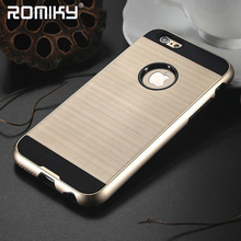 10pcs romiky brushed plastic case for iphone 5s 5 7 6 plus hard tough back cover for iphone 8 6s 6 7s 4 armor back housing shell(China)