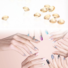 1000pcs Nail Art Tips Crystal Decorations Golden Acrylic Awl Diamond Wedding Table Party Deco for nail art design use