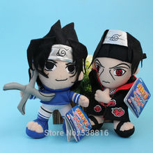 "New Anime 2 Styles Naruto Uchiha Sasuke and Itachi Soft Plush Toy Cartoon Stuffed Doll 8"" 20 CM"