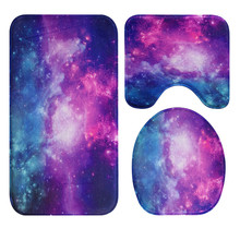 Buy fine joy New Galaxy Universe World Carpet Toilet Mat Bath Mat Floor Carpets Rugs Bedroom Living Room Mats Kitchen Entrance for $11.07 in AliExpress store