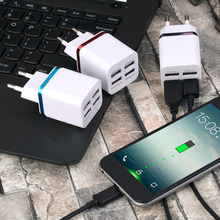 Universal 4 Ports USB Travel Wall Charger Multi Power Adapter Pack EU Plug For Various USB Devices DC 5V- 5100mA
