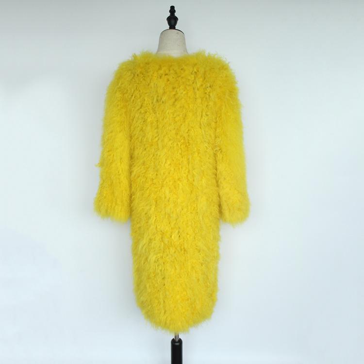 women natural lamb sheep fur coat (13)