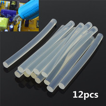 12Pcs/Set Plastic Hot Melt Glue Stick for For Plastic Wood Fabric Electronics Metal Leather Home Office Supplies 7mm*100mm(China)