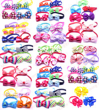100pcs Mix All Style Dog Bow Ties Pet Necktie Popular Designs Bowtie Collar Pet Puppy Dog Ties Accessories Dog Grooming Supplies(China)