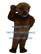 Dark Brown Otter Mascot Costume Sea Animal Adult Size Mascotte Outfit Suit for Stage Performance Party Carnival Cosply SW699