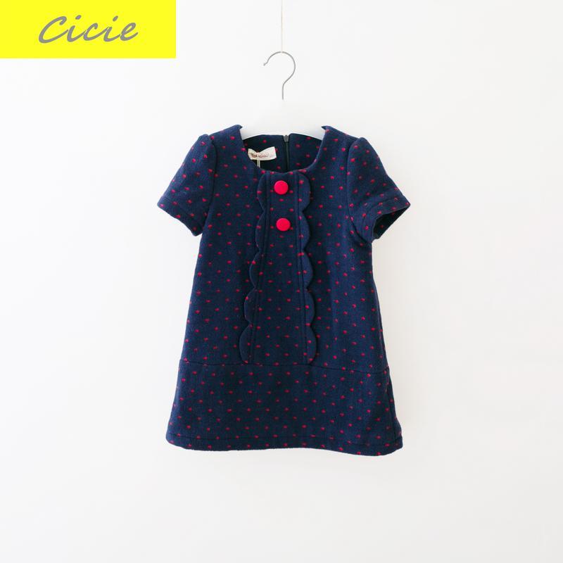 New arrival Childrens Wear Brand Children Winter Vest Dress Girls Thickened Woolen Dress 5-10Y<br>