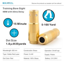 9mm Laser Ammo,Laser Bullet, Laser Cartridge for Dry Fire Training and Shooting Simulation(China)