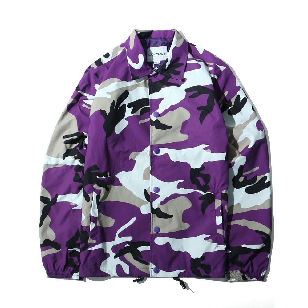 Color Camo Windbreaker Coaches Jackets 6