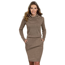Hot 2016 New Women Dress Ladies Fashion Package Hip Slim Mini Pencil Business Office Dress Elbise winter dress Clothes For Women