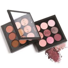 9 Colors Shimmer Matte Pigment Glitter Eye shadow Palette Artist Shadow Palette Makeup Metallic Eye Shadow