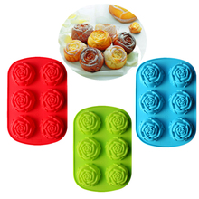 Rose Sunflower Plum Flower 3D Silicone Chocolate Mold Pan Baking Cake Cookie Candy Pudding Jelly Ice Mold Cooking Tool Bakeware