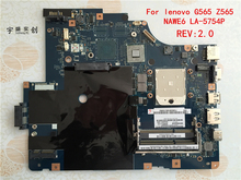 Free shipping NEW !!! LA-5754P motherboard for Lenovo G565 Z565 Notebook motherboard Z565 motherboard ( with HDMI port ) Test OK