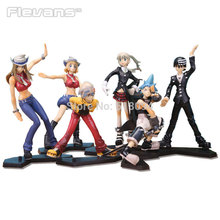 Anime Soul Eater Maka Black Star Death the Kid Lizu PVC Action Figures Collectible Toys 6pcs/set OTFG170