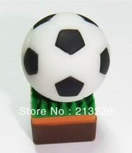 Wholesales New cartoon football model usb 2.0 memory flash stick pen thumbdrive disk