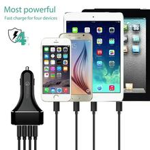 QC2.0 ABS+PC fireproof material+PCBA+aluminum alloy shell material Car Charger QC2.0 charger 4USB Port Universal(China)