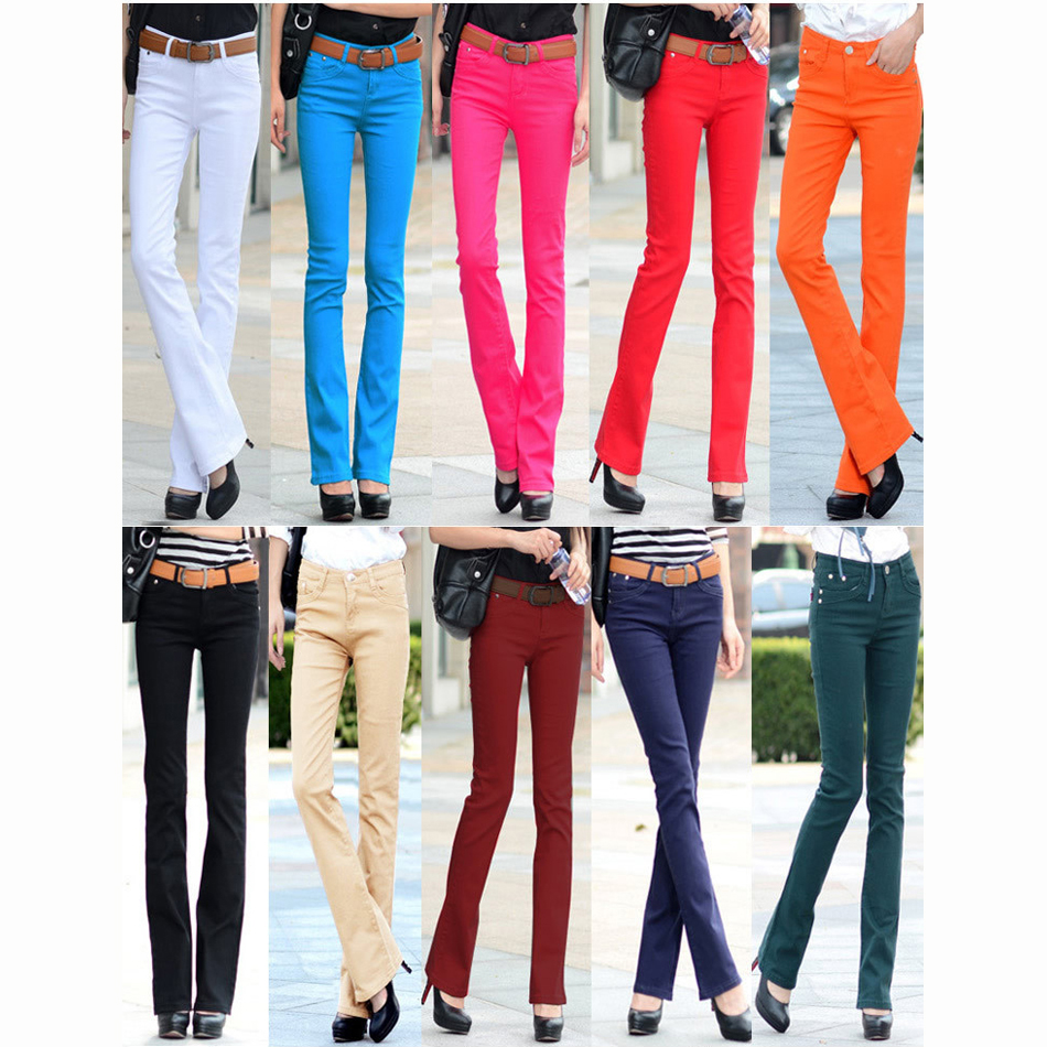 Colored skinny jeans for girls
