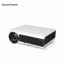 Hot sale full hd projector 5500lumens Video HDMI USB TV 1280x800 HD Home Theater video 3D LED Projetor proyector beamer(China)