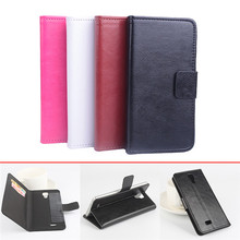 With Card Stand Fuction 4 Colors Cell Phone Flip Cover Magnetic Wallet Holster Shell Horse Design Case For Cubot P11 5''(China)