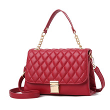 Fashion Brand Designer Lingge Women Bag High Quality Female Red Cheap Handbag Sac A Main Shoulder Women Patent Leather Clutches