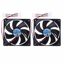 2pcs 120mm 120x25mm 4Pin DC 12V Brushless PC Computer Case Cooling Fan New