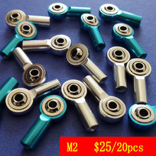 20pcs M2 Metal Tie Rod End Aluminum Ball Head Bracket  For Rc Car Good Quality