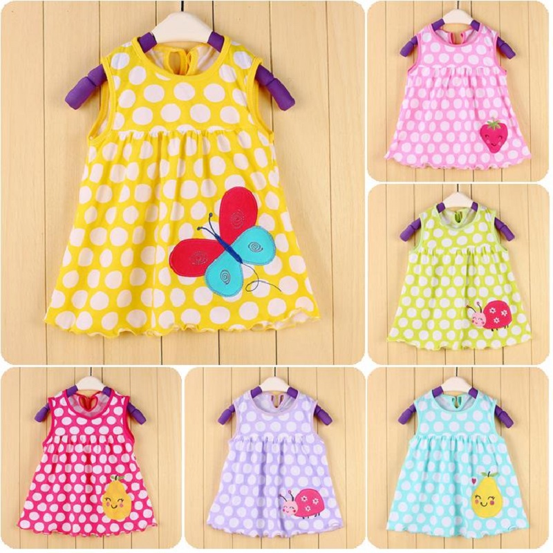 Ladybug Bebe Dresses 0 1 2 Year Baby S Dress Infant Blouses Newborn Clothing Sundress 100 Cotton Jumpers In From Mother Kids On