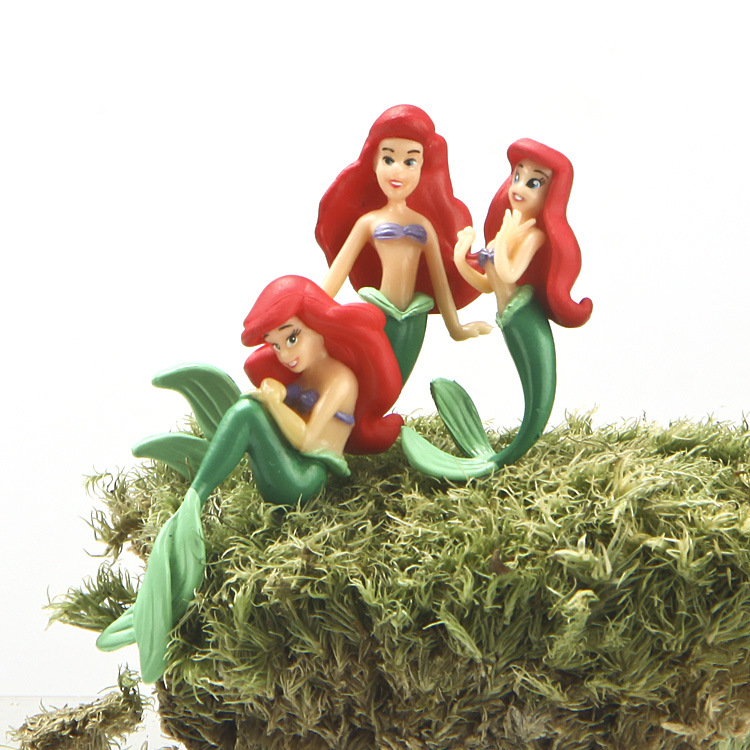 New 3pcs/set 3-5cm Beautiful The Little Mermaid Princess Ariel PVC Action Figure Toys Cute Doll Figures Collection Toy for Girl<br><br>Aliexpress