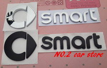 10pcs Free shipping Smart Rear Trunk car emblem Side Badge stickers fortwo FORSPEED FORFOUR ROADSTER FORSTARS Auto accessories