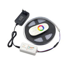 IP67 Waterproof RGB LED Strip Light 5050 SMD LEDs Tape Ribbon / RGB 2.4G Touch Controller / 3A Power Adapter / EU / US Plug