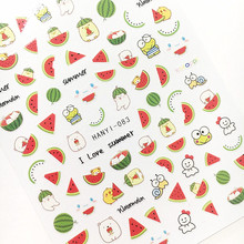 2017 Newest 3d nail art sticker SOLONAIL hanyi-83nail tools WATERMELON decoration nail accessories supplier(China)