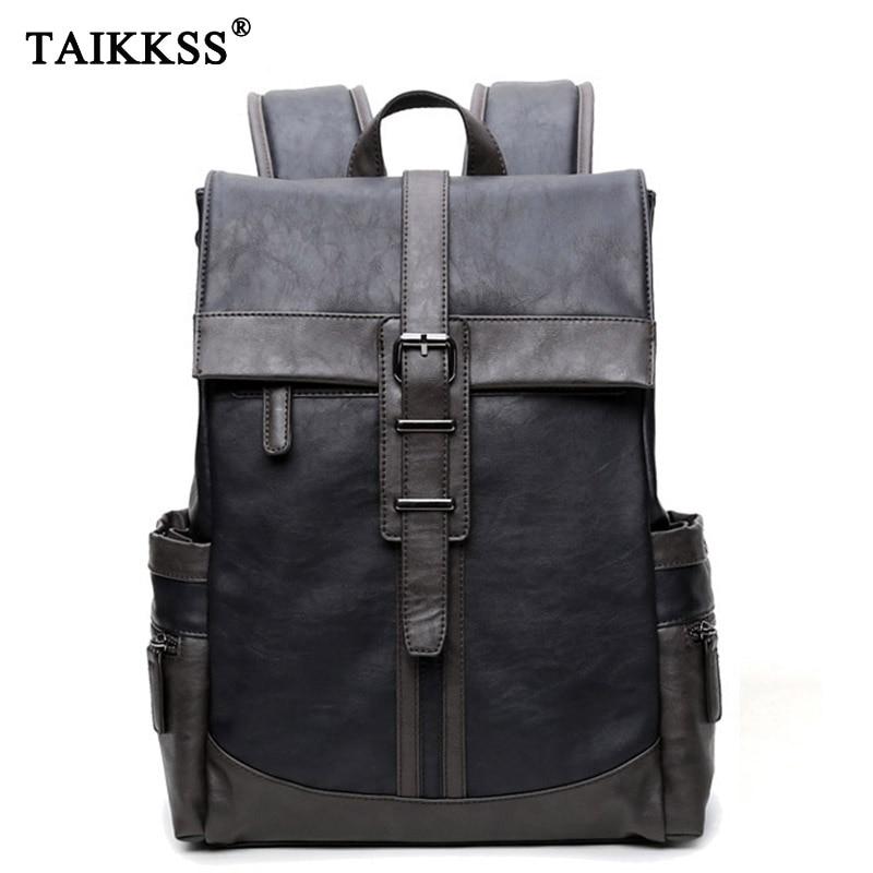 Fashion Men Backpack pu Leather Men Bag Backpacks school for teenagers grils boys Bag Waterproof Backpack Bag For Men mochila <br>