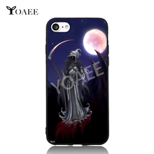 The Death Fun Art For iPhone 6 6s 7 Plus Case TPU Phone Cases Cover Mobile Protection Decor Gift(China)