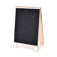 Valentine Day Favor Vintage Mini Wood Chalkboard Blackboard DIY Wooden Place Card Holder Table Number for Wedding Event Party(China)
