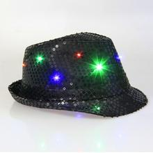 Cool Unisex LED Flashing Glow Cotton Fabric Dome Hip-Hop Hat Club Party Shiny Cap New Brand