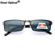 Gmei S9028 Óptica Polarizada Magnético Clip-On Liga de Aro Cheio de Armações  de Óculos Homens Óculos de Armação Retangular d45cce3ac7