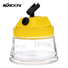 KKMOON Airbrush aerografo tools 3 in 1 Cleaning Pot Glass Air Brush Holder Big Clean Paint Jar Bottle Manicures Tattoo Supplies