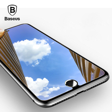 Baseus Mirror Tempered Glass For iPhone 8 Screen Protector Glass For iPhone 7 8 Plus Protective Glass Anti Scratch Guard Cover(China)