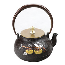 1L South Japan Kung Fu Kettle Cast Iron Teapot Handpainted All The Best Tea Pot Drinkware(China)