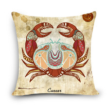 New Zodiac 45x45cm cross stitch pillow case Cancer constellation pattern diy cushion cover needle arts home product best gifts