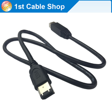 STW FireWire 800 to FireWire 400 9 Pin to 6 Pin IEEE 1394B Cable cord 0.7M(copper conductor+foiling+AL braiding)(China)